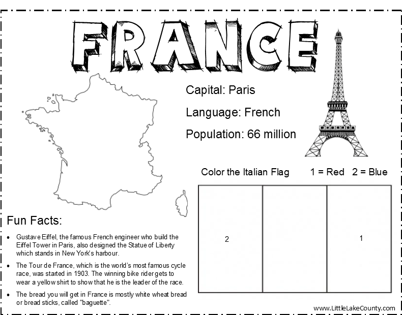 france coloring pages free - photo#14