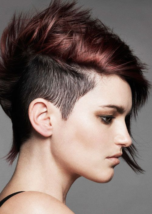 Coloring Ideas For Short Hair : Love this hair color dark underneath and the auburn ? on top