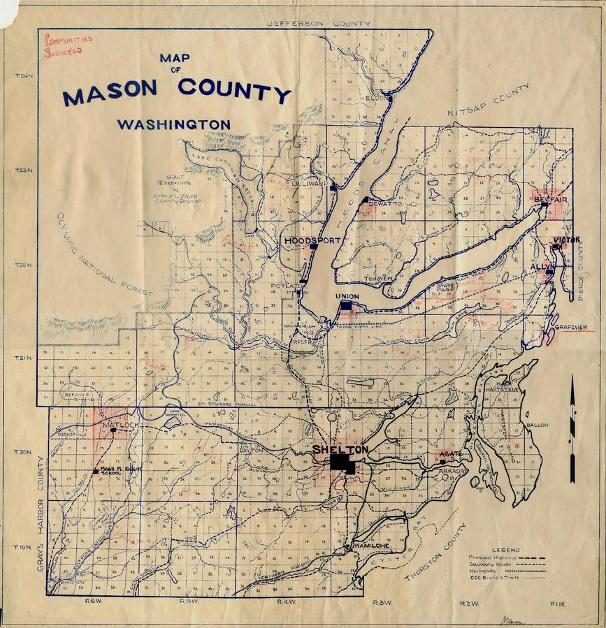 Map Of Mason County Washington 193 Beautiful Maps From Early