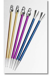 Set of #1 Knitting Needles from Signature Needle Arts Signature needles are constructed from aircraft quality aluminum. clearly laser marke ...