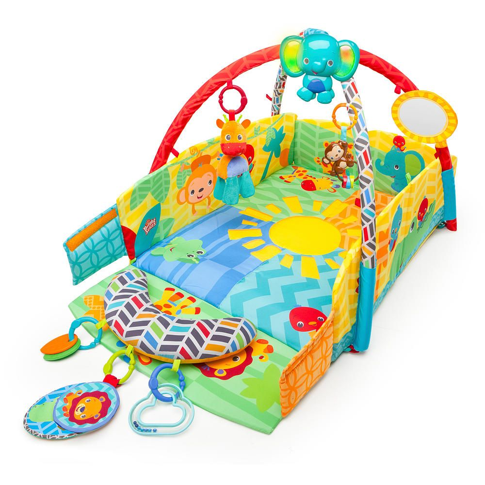Bright Starts Baby S Play Place Playmat Kids Ii Babies R Us Best Baby Toys Baby Activity Gym Bright Starts