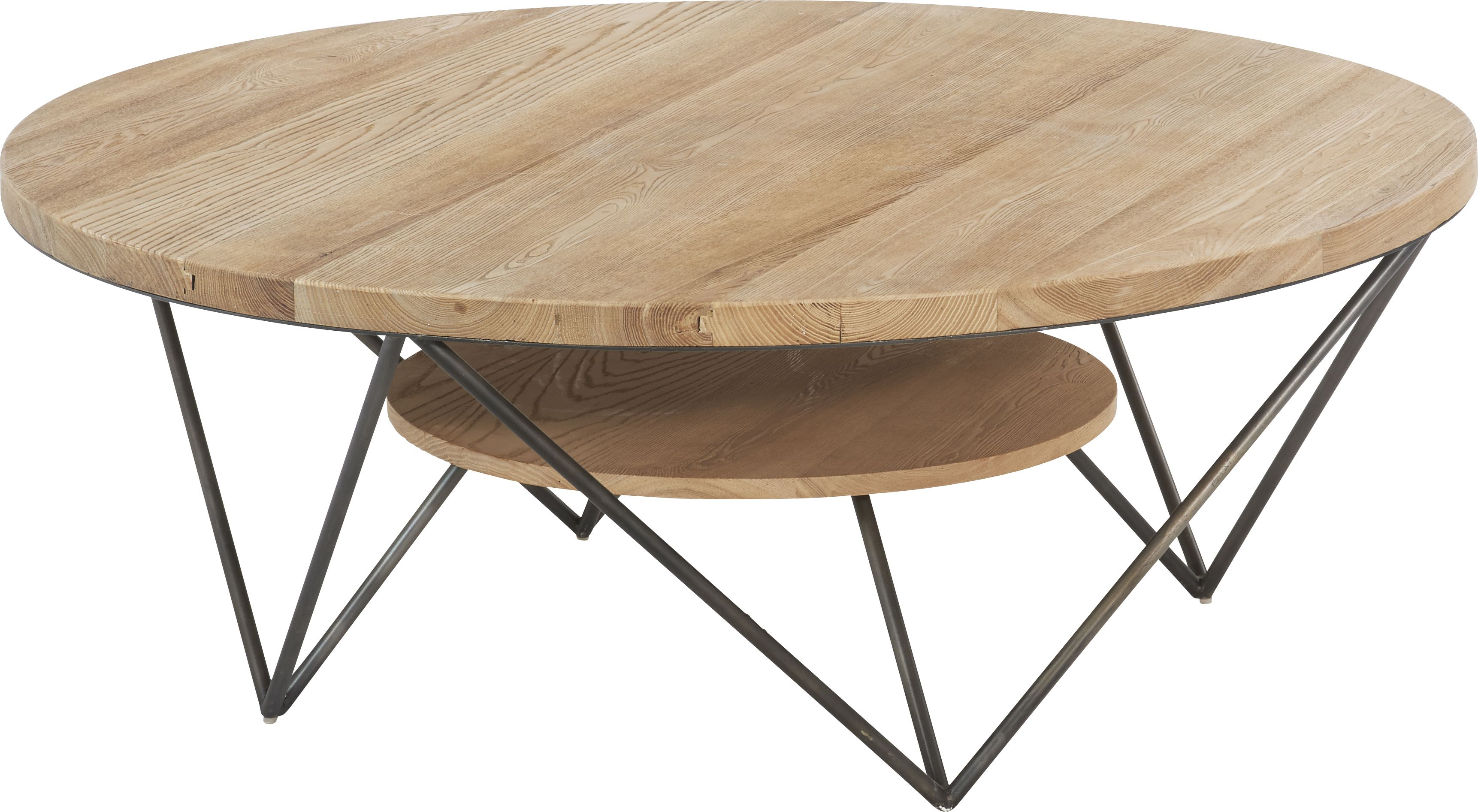 Table Basse Bois Metal Ronde Table Basse Ronde Hudson Par Hanjel Les Tables Basses Designées