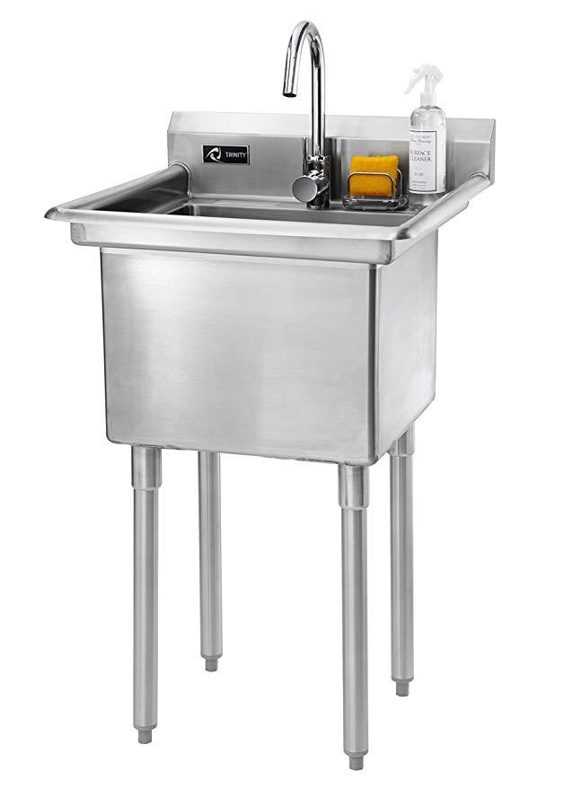 Amazon Com Trinity Stainless Steel Utility Sink 23 3 W X 23 3