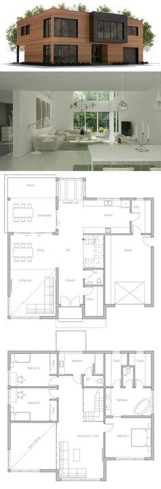 Modern House Plan Minimalist House Design Patterns Pinterest