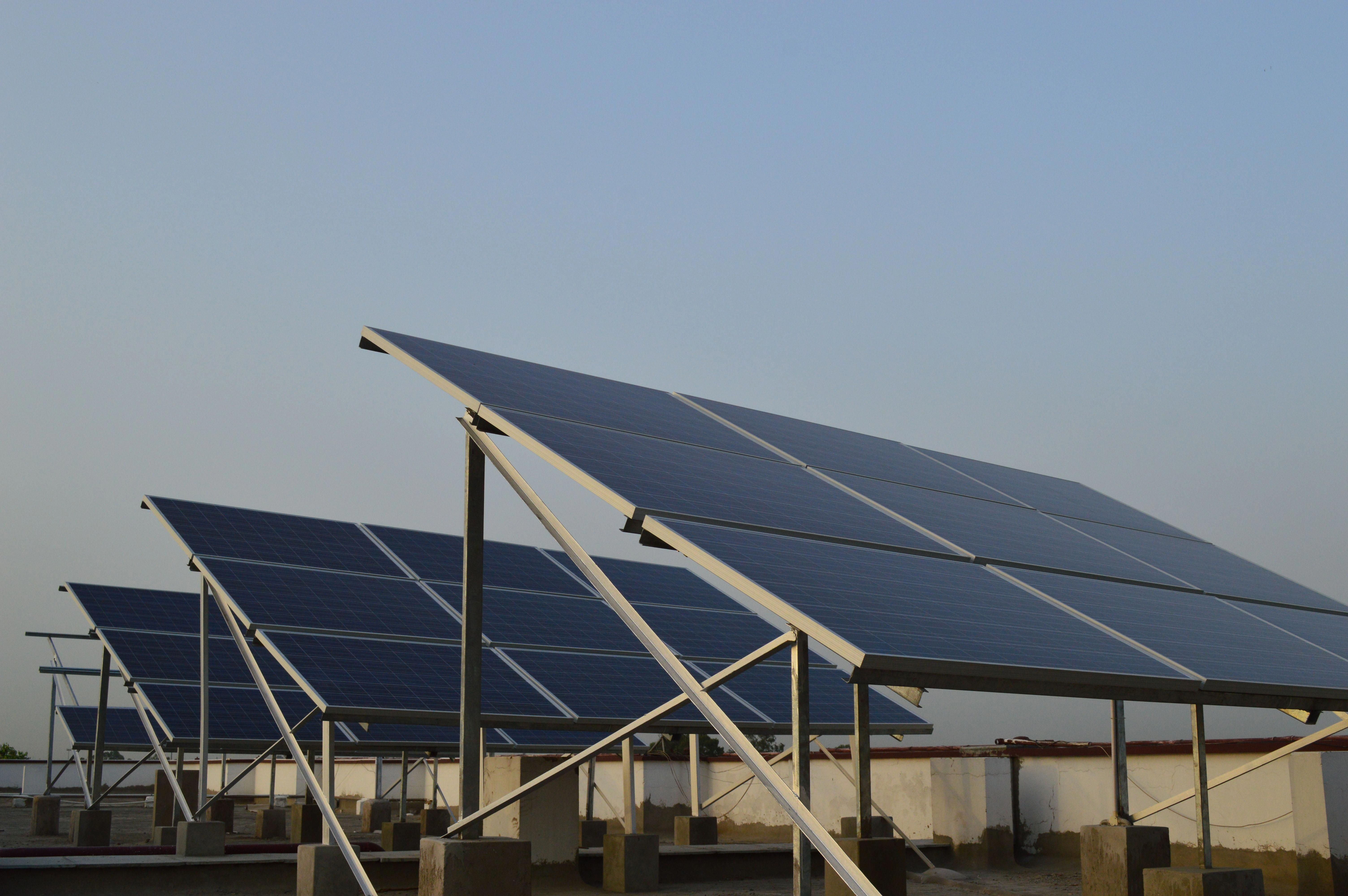 The Complete Installation Of 10kw Solar Plant At Indian School New Delhi Solarcell Solar Panels Solar Solar Energy Panels