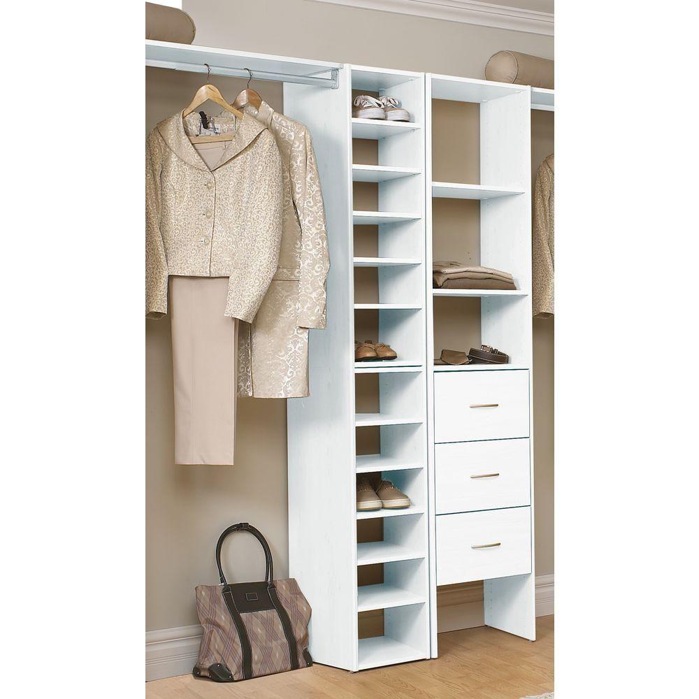 Closetmaid Selectives 41 1 2 In White Stackable 7 Shelf Organizer