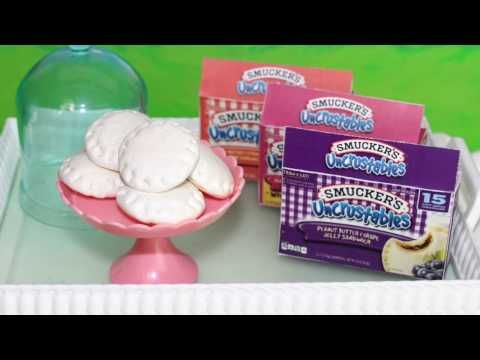 Doll Uncrustables Sandwich | DIY American Girl Doll Craft - YouTube #americangirldollcrafts
