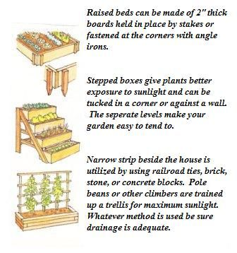 neat ideas for those that don't have a lot of space to garden.