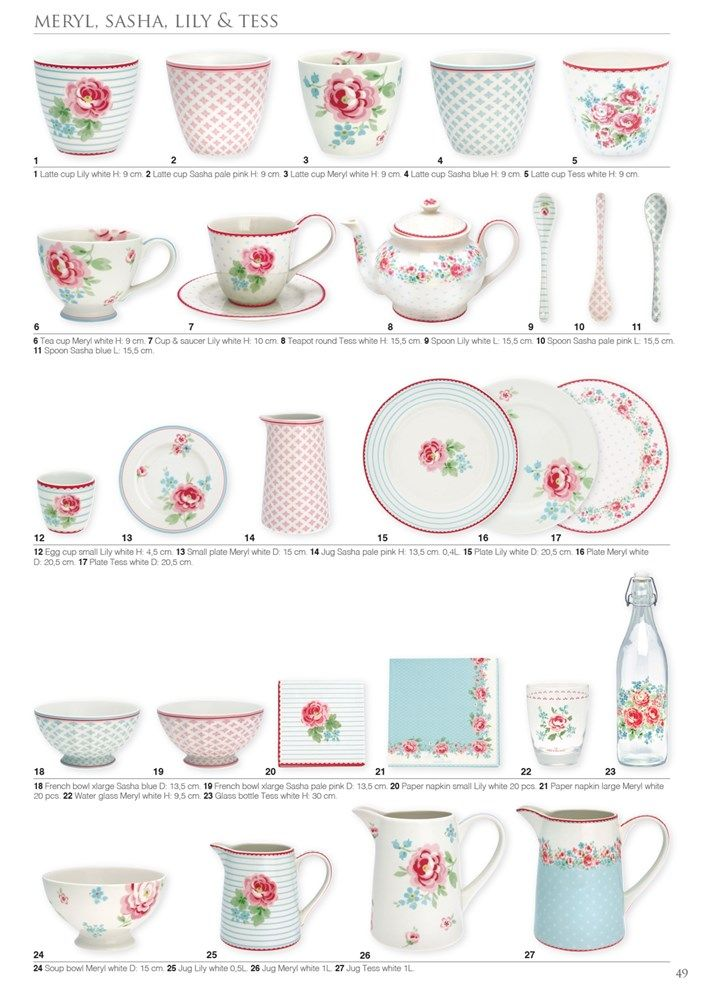 Greengate Catalogue 2018 Summer Geschirr In 2019 Shabby Chic