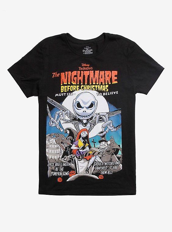 Disney Store Nightmare Before Christmas Jack Skellington Womens T-Shirt XL-2XL