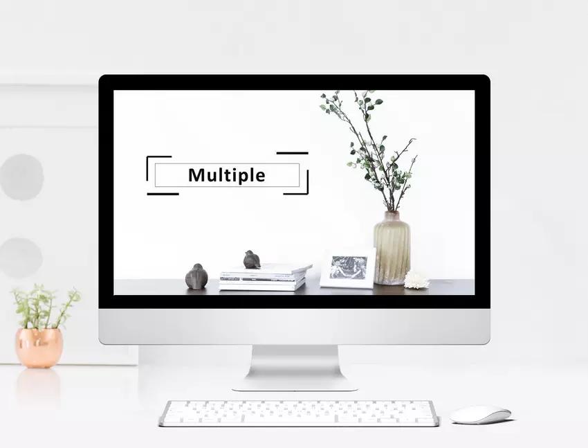المنتجات النباتية الصغيرة والزهور الطازجة مقدمة قالب Ppt Web App Design Powerpoint Powerpoint Presentation Templates