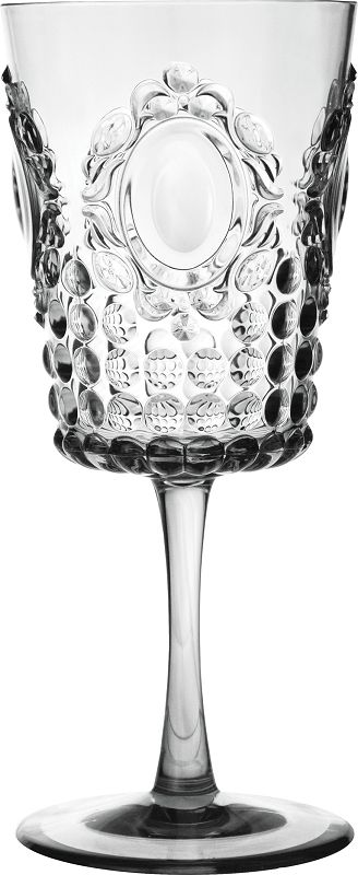 Set Of 12 Baci Milano Baroque Clear Wine Glasses In Gift Box