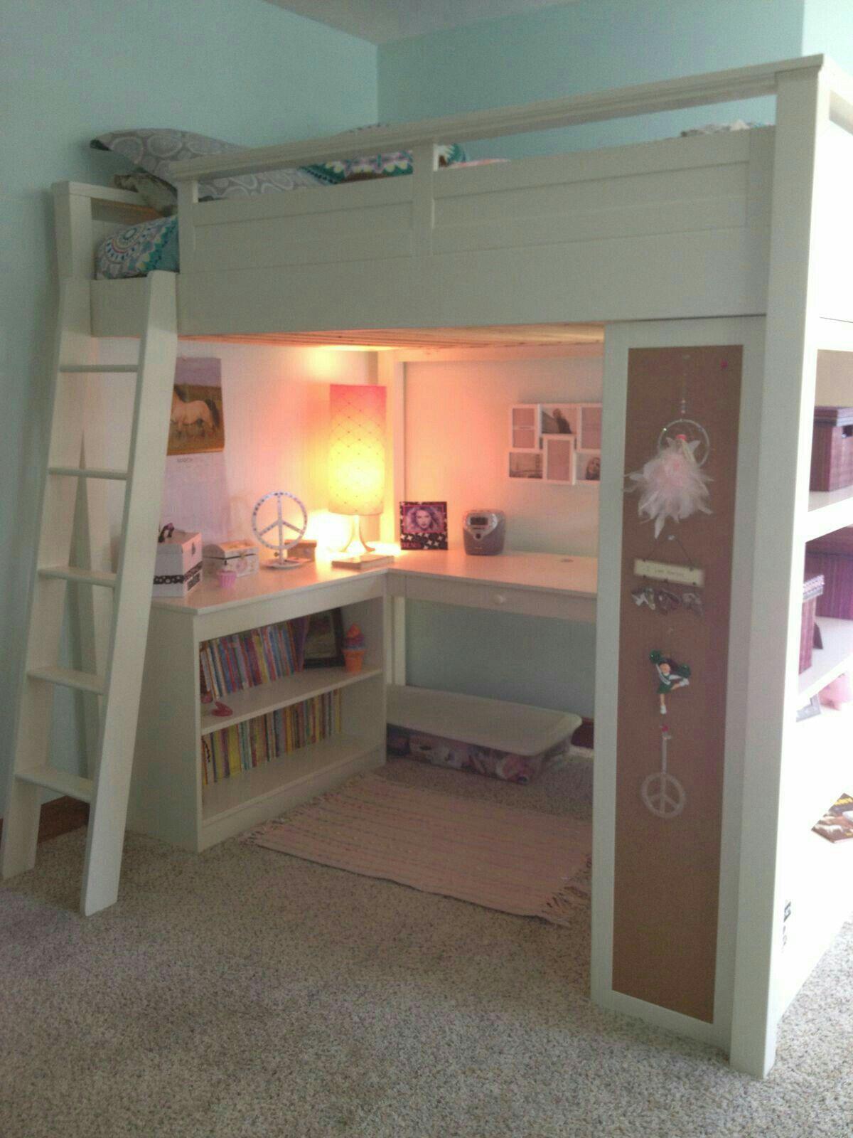 Ideas de camas puentes loft para espacios reducidos - Habitaciones juveniles espacios pequenos ...