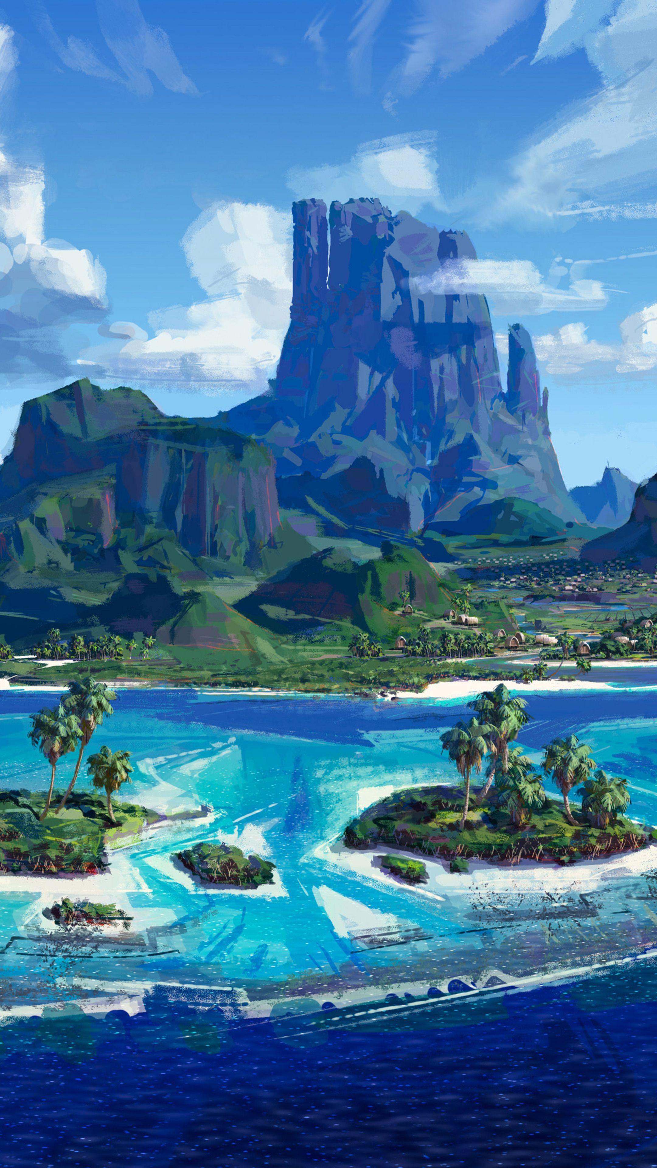Misc Moana Island wallpapers Anime scenery, Anime