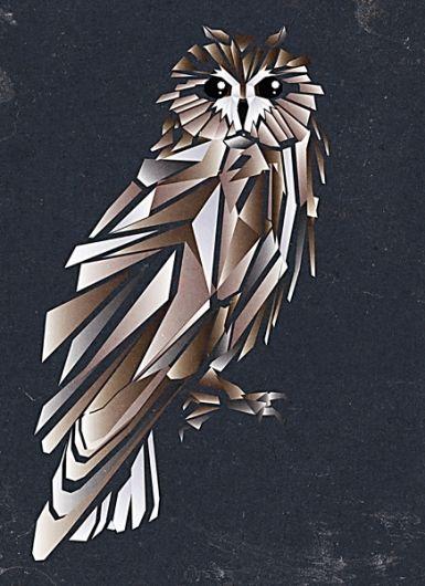cubist owl on Designspiration | cubism art | Pinterest | Eule