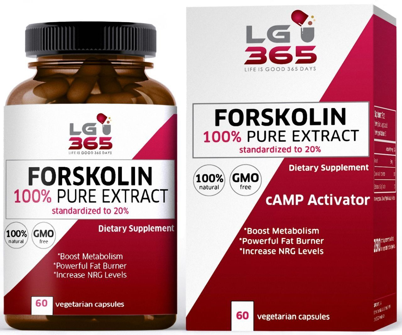Lg365 Forskolin Capsules Extract For Weight Loss 100 Pure Weight