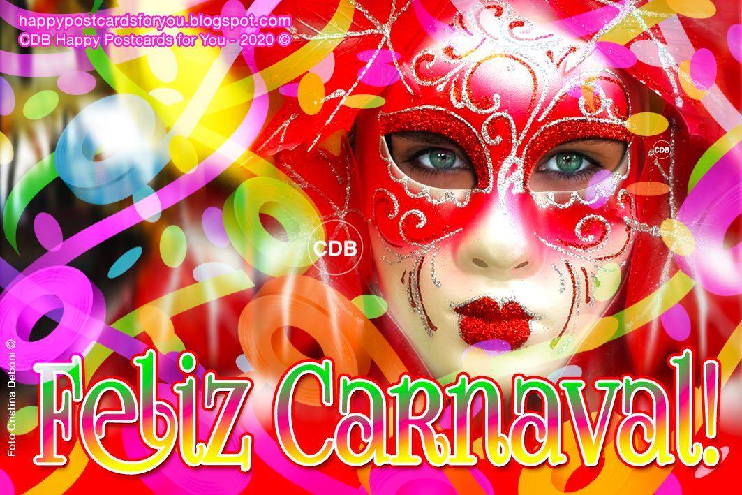 Tarjeta De Felicitacion Feliz Carnaval Febrero 2020
