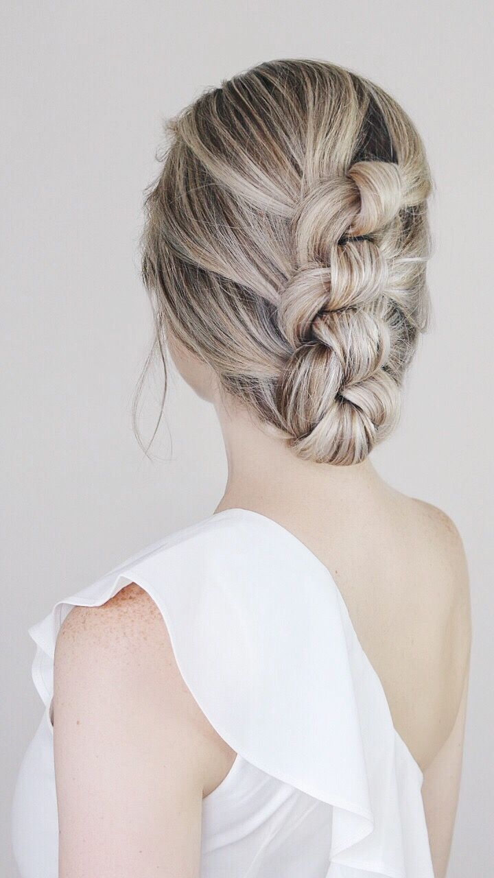 Easy Knotted Updo Tutorial #easyupdo