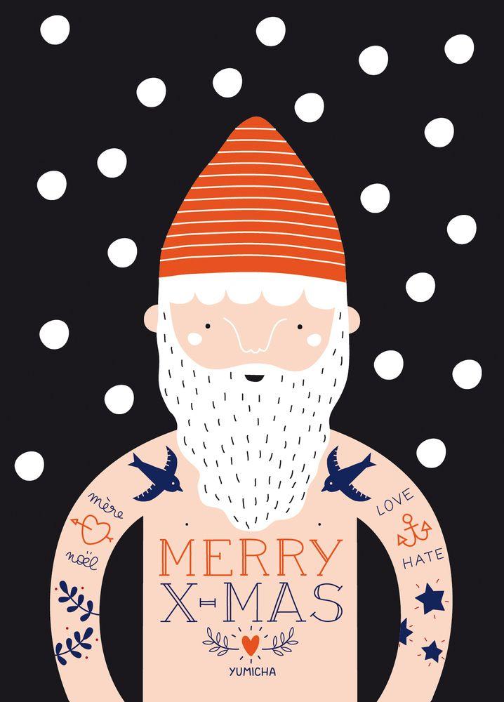 Carte Postale De Noël Pour Souhaiter Avec Humour Et Amour