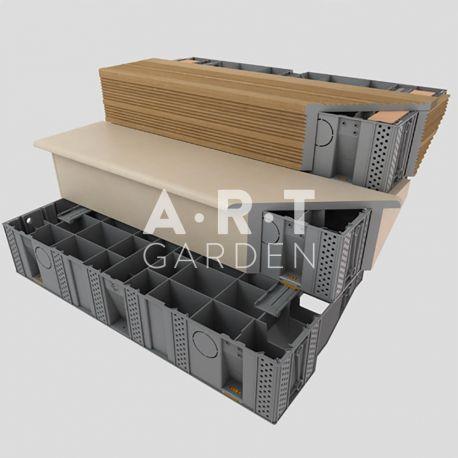 Marche Escalier Exterieur Modulable Modulesca 100 Cm Avec Images