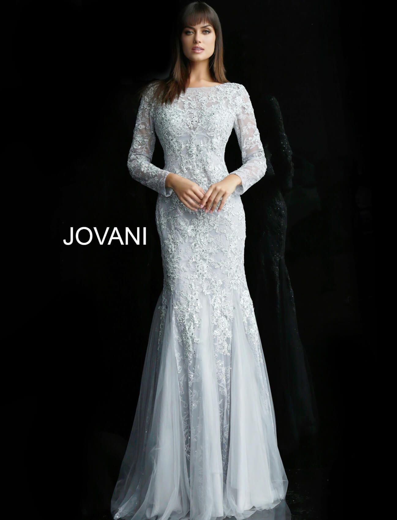 Jovani 62766 ill usion neckline formal gown modest