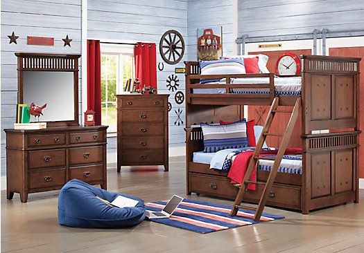 ... A Mission Dark Oak 7 Pc Twin Twin Bunk Bedroom At Rooms To Go Kids.  Find That Will Look Great In Your Home And Complement The Rest Of Your  Furniture.