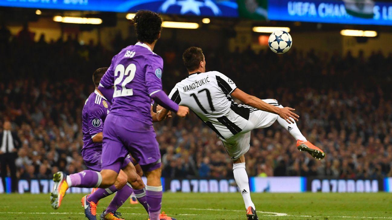 Puskas Award Mario Mandzukic And Olivier Giroud Nominated For Best Goal Mario Mandzukic Football Daily Uefa Champions League