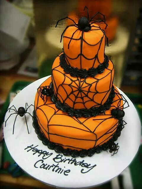 Birthday cake idea Hallows eve Pinterest Birthday cakes - halloween birthday cake ideas