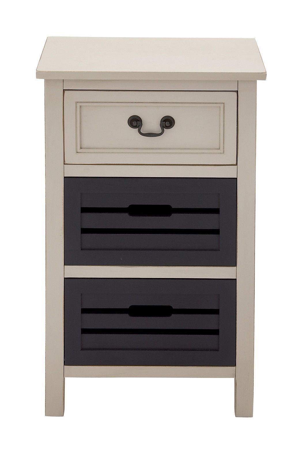 Best Contemporary Beige Dark Brown 28 High Wood Night Stand 400 x 300