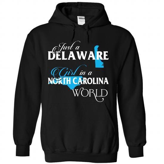 A DELAWARE-NORTH CAROLINA girl Blue02 - #inexpensive gift #love gift. TAKE IT => https://www.sunfrog.com/States/A-DELAWARE-2DNORTH-CAROLINA-girl-Blue02-Black-Hoodie.html?68278