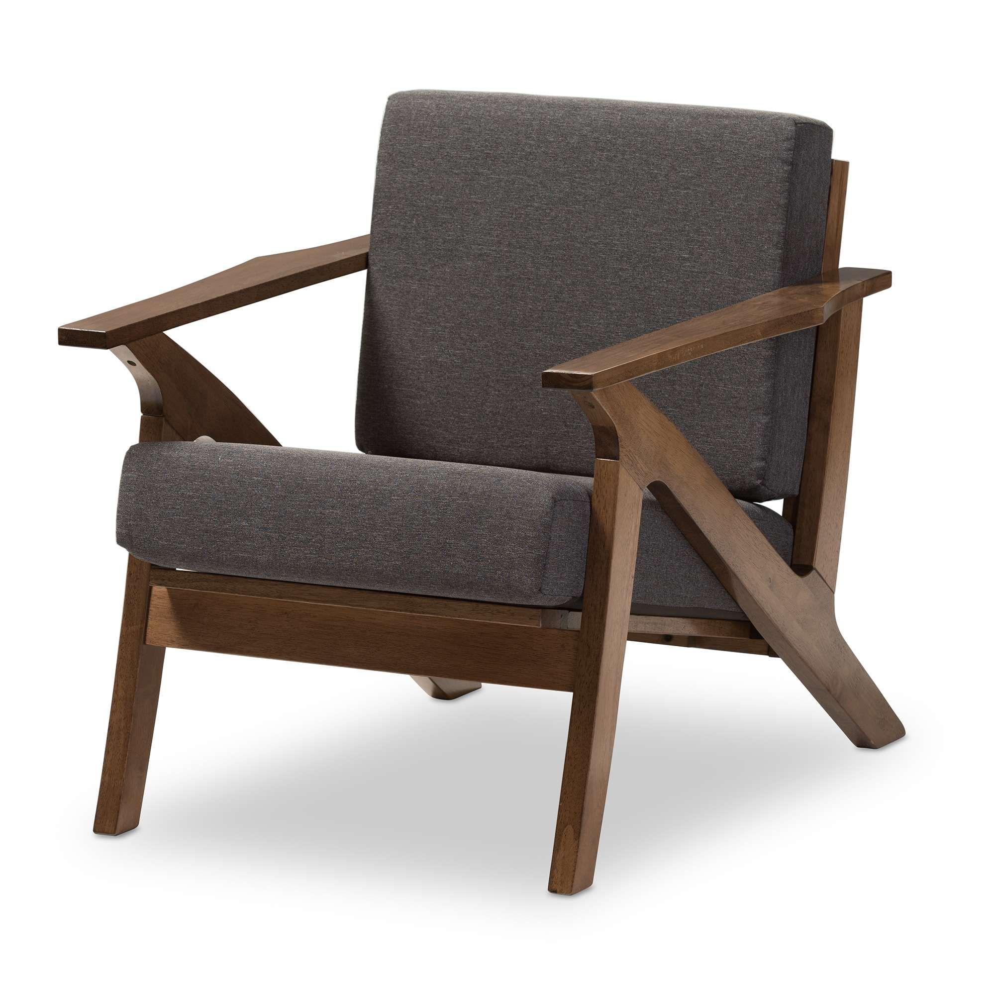 Lowest Price On Baxton Studio Cayla Mid Century Gray Fabric And Walnut Brown Wood Lounge Fabric Lounge Chair Lounge Chairs Living Room Mid Century Modern Wood