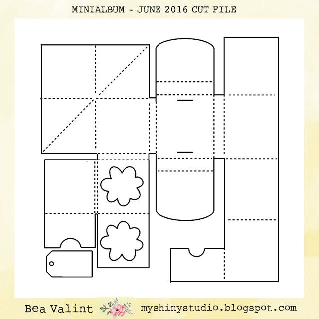 Bea Valint: One page minialbum with Silhouette cut file