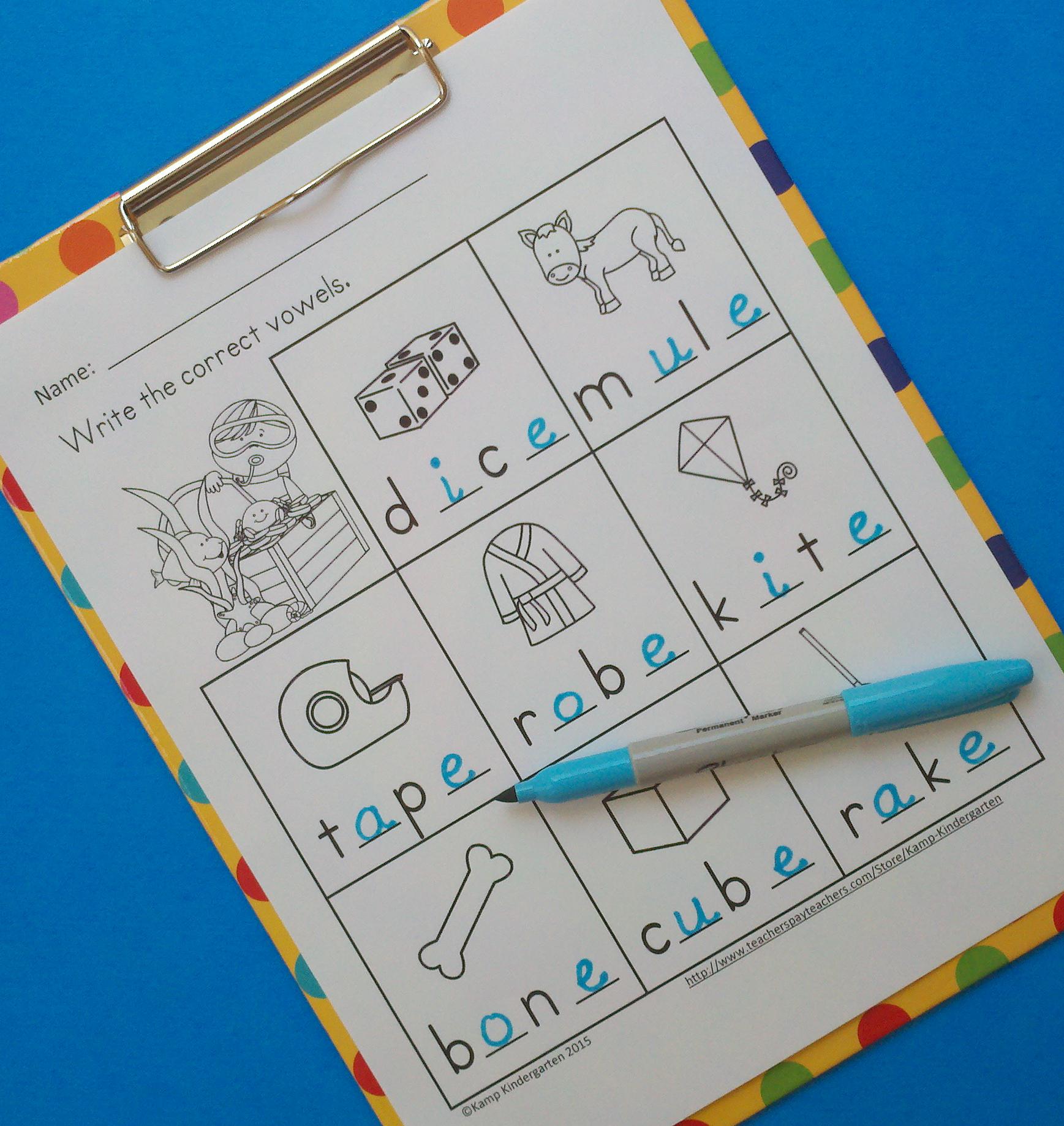 Cvce Worksheets Kindergarten