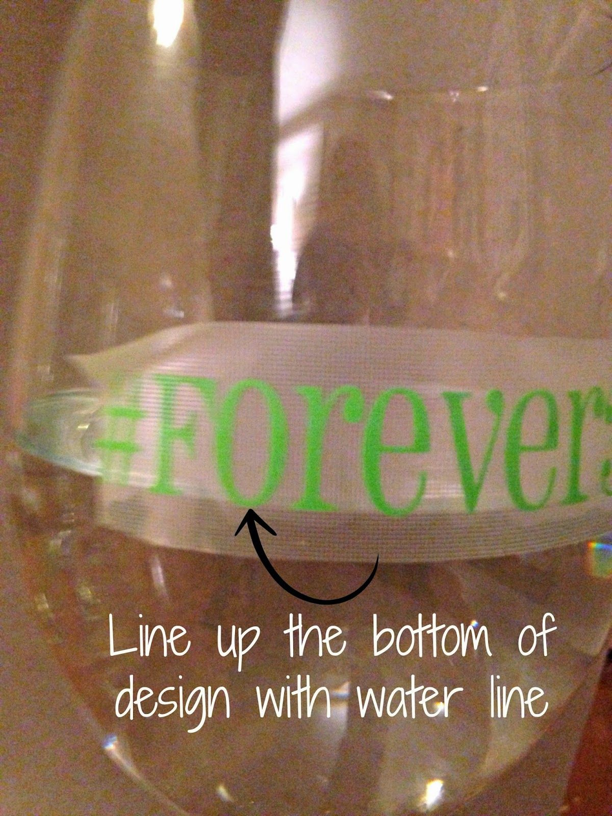 Cheap vinyl for crafts - Putting Vinyl On Wine Glasses 7 Tips For Success Silhouette School