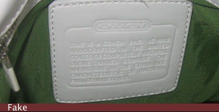 How To Spot A Fake Coach Handbag The Serial Number Inside Could Be For Anything Check With Before Ing I Have Seen These Men S Wallet