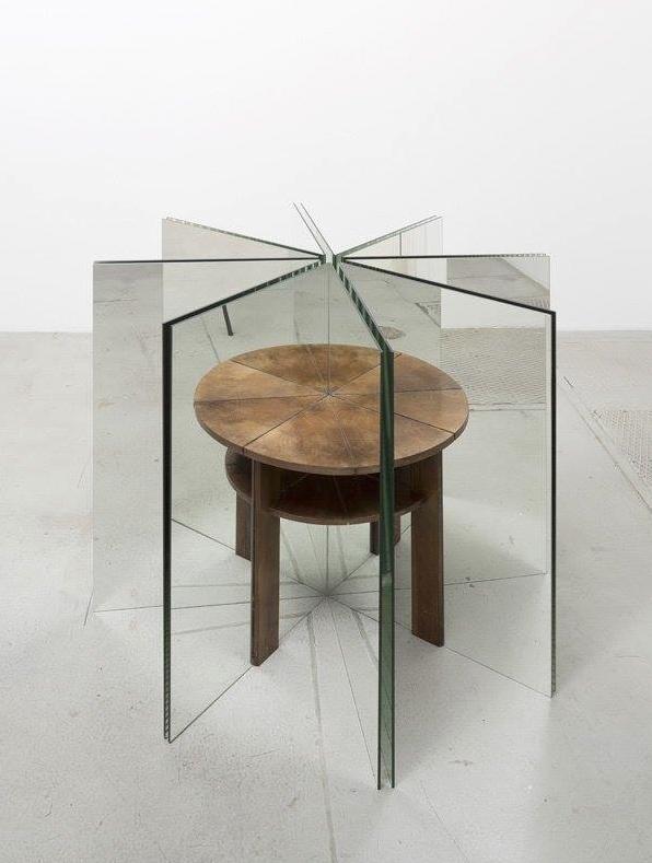 alicja kwade ein tisch ist ein tisch a table is a table 2014 mirrors sculpture art. Black Bedroom Furniture Sets. Home Design Ideas