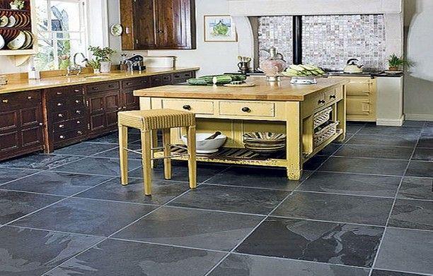 Kitchen Tile Flooring Ideas For New Look Black Slate Kitchen Floor Tiles Lanewstalk Com Floor Ideas Inspi Kitchen Flooring Slate Floor Kitchen Slate Kitchen