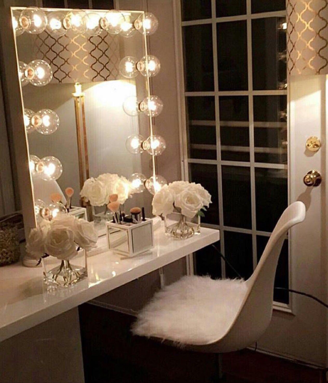 Crisp classy vanity makeup station pinterest vanities classy