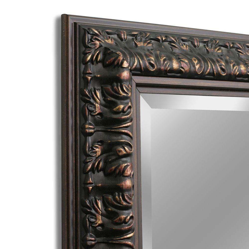 Deco mirror 29 in x 35 in ornate mirror in bronze8836
