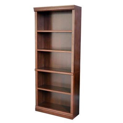 Hampton Bay Dark Brown Wood Open Bookcase Thd130419 1a Of