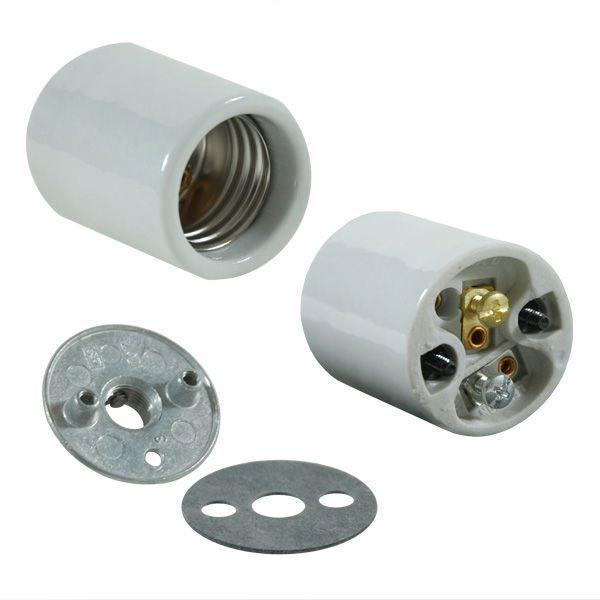 Keyless Socket - Porcelain - Medium Base   Bulbs, Porcelain and Lights