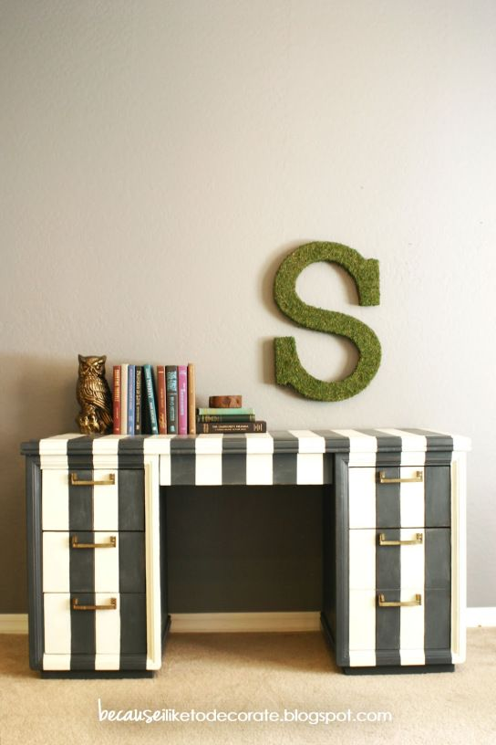 wentworth an office desk with personality becauseiliketodecorate rh pinterest com