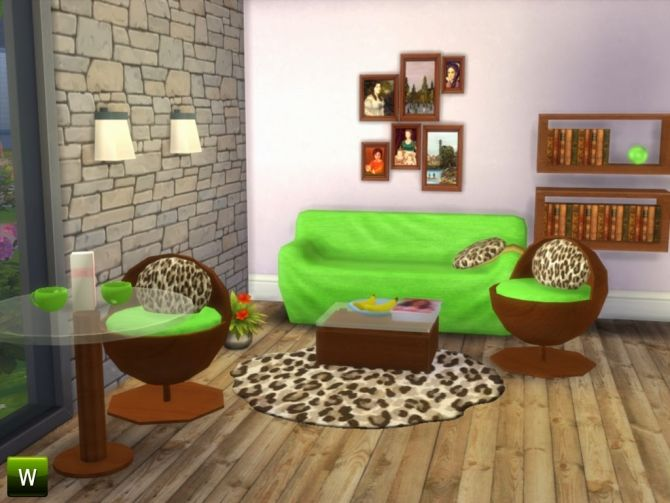 Rhythm of the Wild livingroom set at Little Sims Stuff via Sims 4 Updates