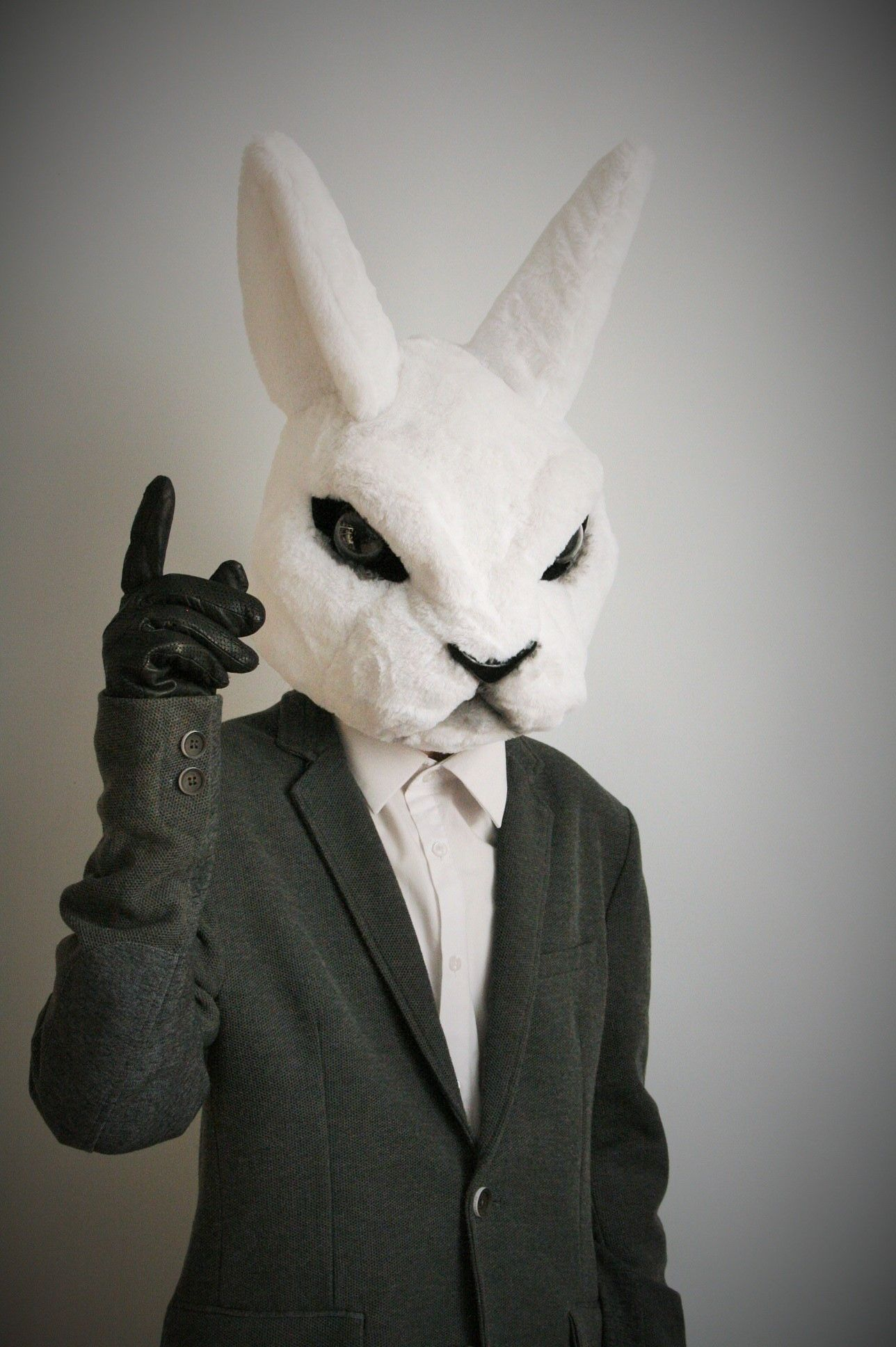 Rabbit head from Misfits show, by Oneandonlycostumes