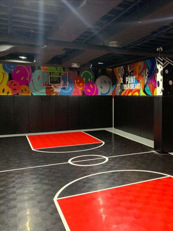 Interlocking Modular Court Floor Tiles Basketball Volleyball Etc In 2020 Home Basketball Court Basketball Court Flooring Sunday School Room Decor