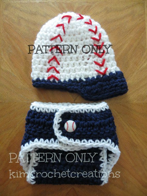 Crochet Pattern Pdf Digital File Crochet Baseball Hat Cap Diaper Cover Photo Props Shower Gift Baby Boy Bringing Home Baby Outfit Pattern Crochet Baby Hat Patterns Baby Outfits Newborn Crochet For