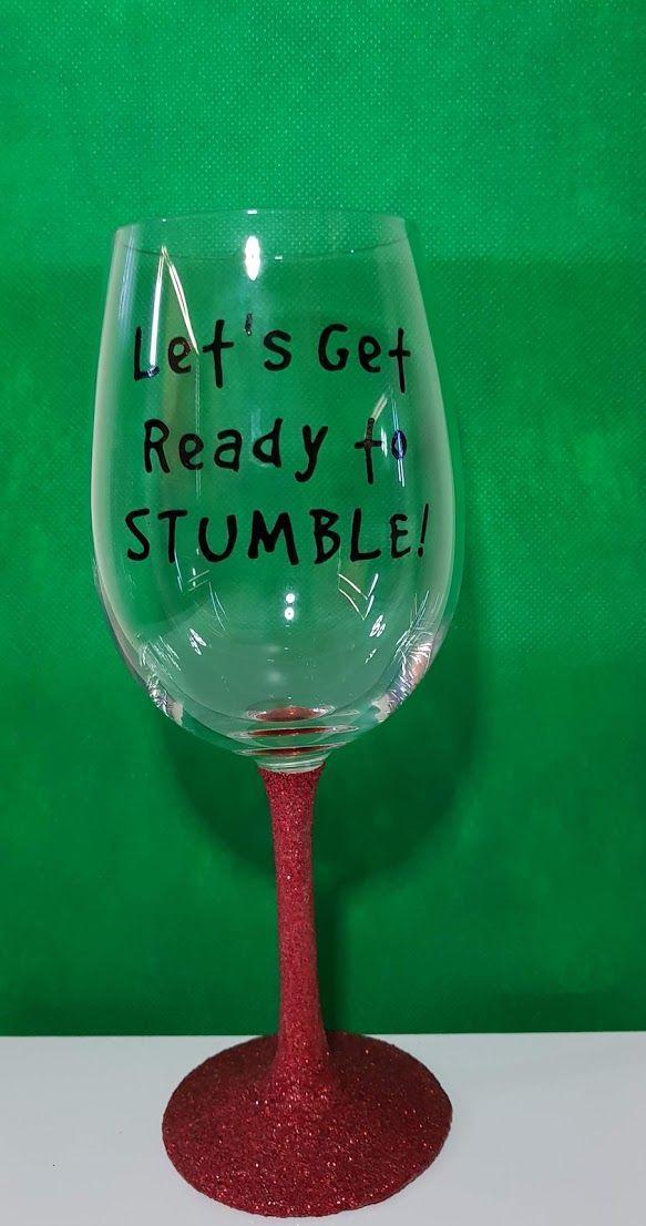 Custom Made Glitter Wine Glasses Using Cricut   Glitter wine glasses diy, Glitter wine glasses ...
