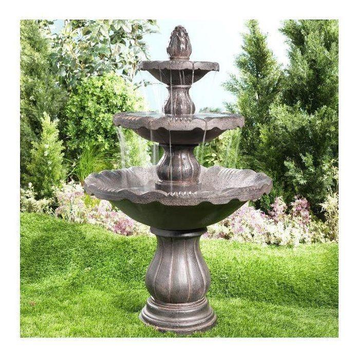 Backyard Fountains Lowes Outdoor Garden Fountains 400 x 300