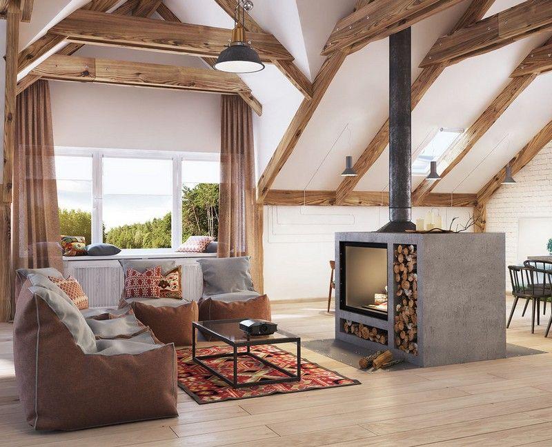 Wohnideen Wohnzimmer Skandinavisch brennholz lagern wohnzimmer skandinavisch gestalten wohnideen