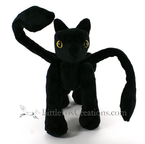 Plush Monster  Displacer Beast by LittleFoxCreationsWA on Etsy. Looks like he's missing a pair of legs.